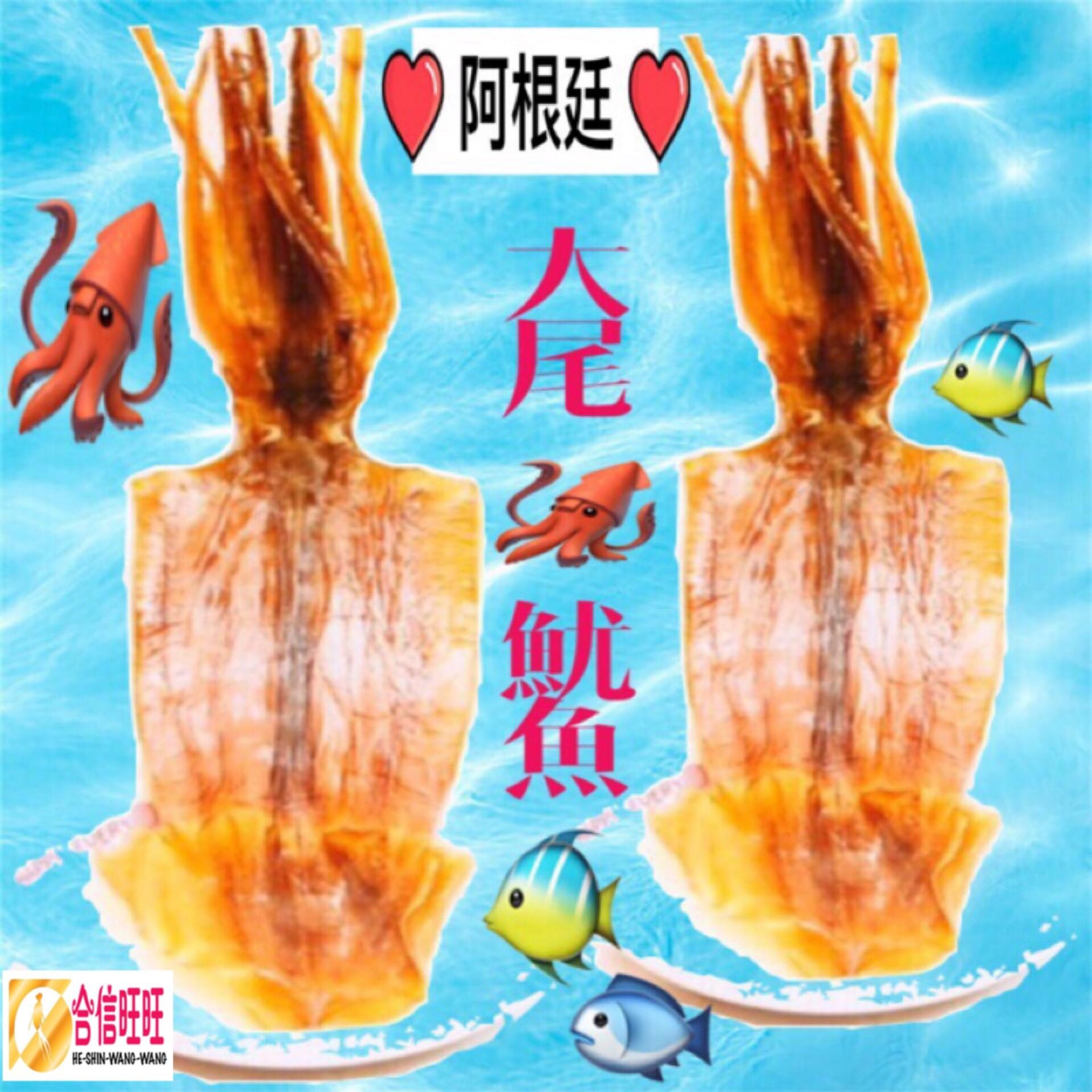 【阿根迋魷魚乾】 (大尾)100g±10%╱隻
